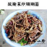酸腌菜炒珊瑚菌