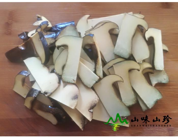 新鲜黑牛肝菌切片